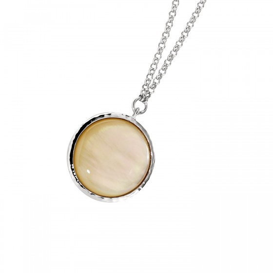 ELLE Sterling Silver 16 in. + 2 in. Gold MOP Necklace