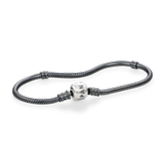 Oxidize Bracelet and Chain with S.S. Pandora Clasp