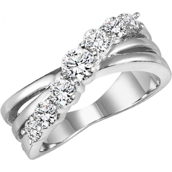 14K Diamond 1 ctw Diamond Band