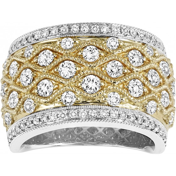 14K Diamond  1 1/3 ctw Diamond Band