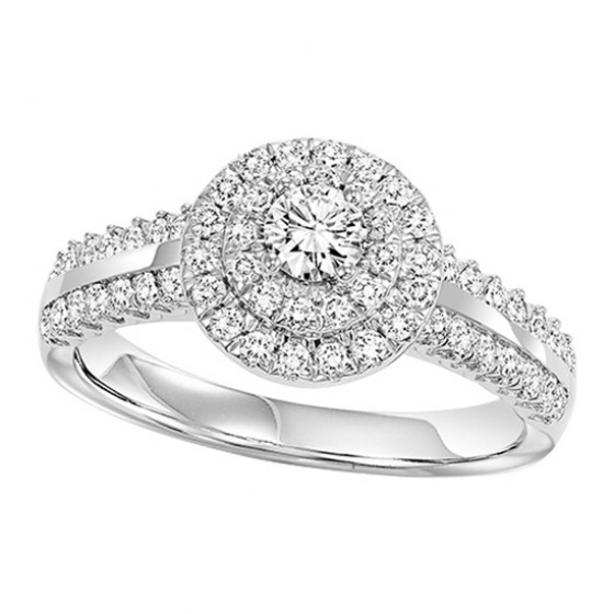 14K Diamond 3/4 ctw Engagement Ring Complete