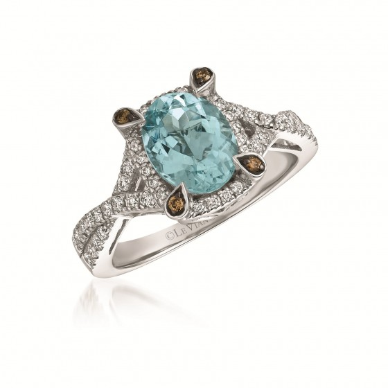 Le Vian Chocolate Aquamarine and Diamond Ring