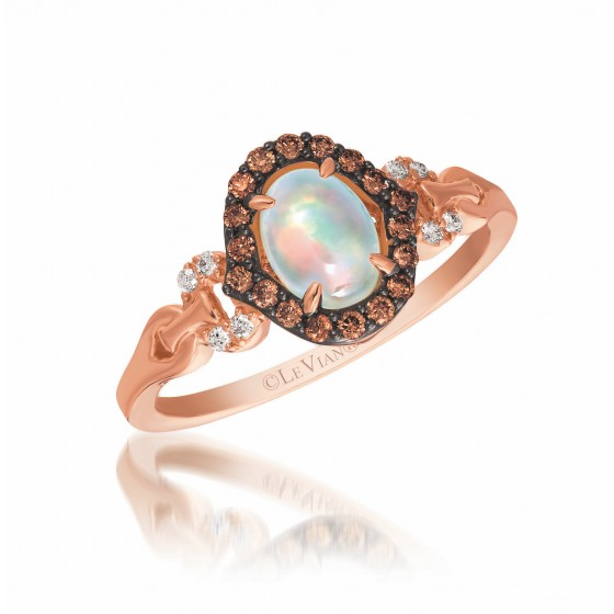 Le Vian Opal and Chocolate Diamond Ring