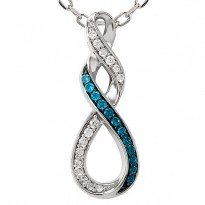 Infinity Blue Diamond Pendant