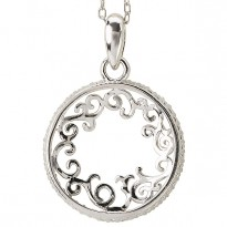 Circle Diamond Pendant