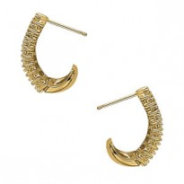 EARRINGS HOOP EARRINGS J-HOOPS