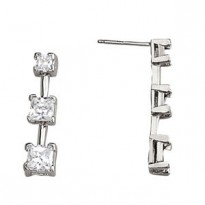 EARRINGS 3 STONE MATCH 30763