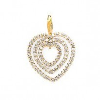 14K HEART C.Z. PENDANT        3.80CTW   **FITS 2MM**