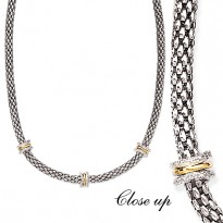 14K SILVER and DIAMOND          NECKLACE, 18.23CTW