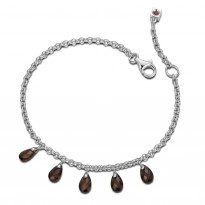 ELLE Sterling Silver 8.5 in. Smoky Quartz Bracelet