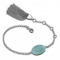 ELLE Sterling Silver 6 in. + 1.5 in. Amazonite Bracelet