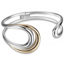 ELLE 7.25 in. Sterling Silver & 14kt Gold Plated Cuff