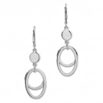 ELLE Sterling Silver Lever Back Earrings