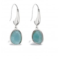 ELLE Sterling Silver Amazonite Eurowire Earrings