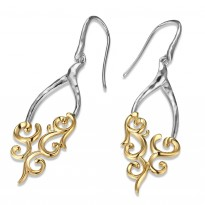 ELLE Sterling Silver & 14kt Gold Plated Eurowire Earrings