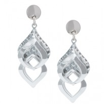 Frederic Duclos Layered Square Inerlude Earrings