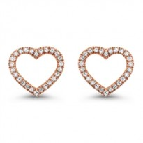 Dainty Delicacies 14 Karat Rose Gold Diamond Earrings