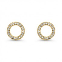 Dainty Delicacies 14 Karat Yellow Gold Diamond Earrings