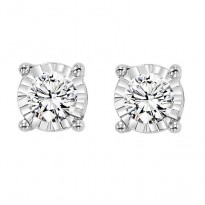 Tru-Reflection 14 Karat White Gold Diamond Earrings