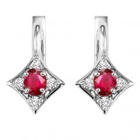 14K Ruby Earrings (Matching Ring & Pendant Available)