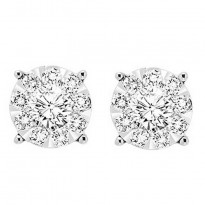 Tri Star 14 karat diamond earrings