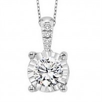Tru-Reflection 14 Karat White Gold Diamond Pendant