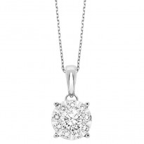 Tri Star 14 karat diamond pendant