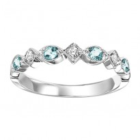 10K Mixable Ring - BLUE TOPAZ