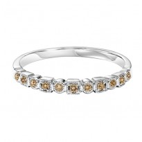 10K  Brown Diamonds Mixable Ring