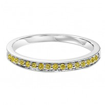 10K Treated Yellow Diamonds Mixable Ring