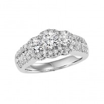Tru-Reflection 14 Karat White Gold Diamond Ring