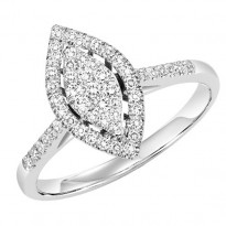 14K Diamond Engagement Ring 1 ctw