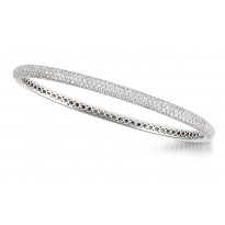 18K WG NARROW-BOMBAY BANGLE 303D2.5