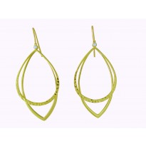 14K YG DUOLONG EAR 2D.06