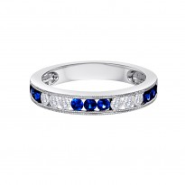 18K WG DOMINO BAND RING 6D.24 9BS.43 (1/2 way)