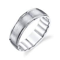 M Fit White Gold Wedding Band