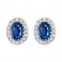 14K Sapphire Earrings (Matching Ring & Pendant Available)
