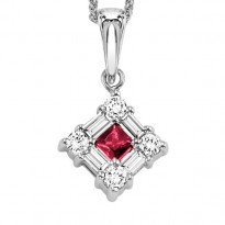 14K Ruby Pendant  (Matching Ring & Earrings Available)