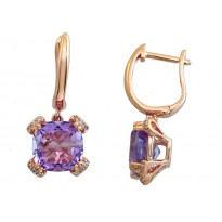Effy Amethyst and Diamond Earrings