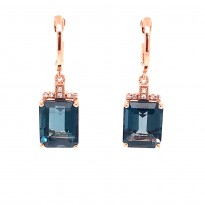 Effy London Blue Topaz and Diamond Earrings
