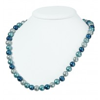 Sterling Silver 8-9MM Blue Moon Ringed Freshwater Cultured Pearl 18 Necklace
