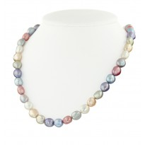 Sterling Silver 8-9MM Wildflower Baroque Freshwater Cultured Pearl 18 Necklace