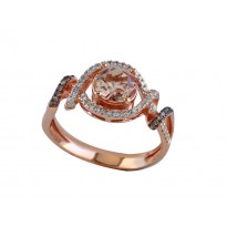 Effy Morganite and Diamond Ring