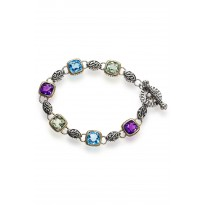 Effy Multi-Colored Gemstone Toggle Bracelet