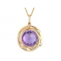 Effy Amethyst and Diamond Necklace