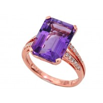 Effy Amethyst and Diamond Ring
