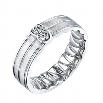 M Fit White Gold Diamond Wedding Band