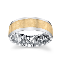 M Fit White & Yellow Gold Wedding Band