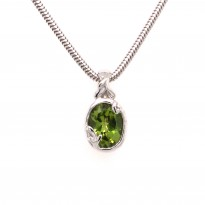 Colore Peridot Pendant and Chain