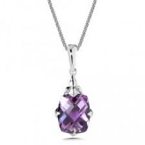 Colore Amethyst Pendant and Chain